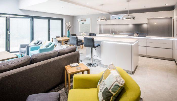 Handleless matt grey kitchen – Ipswich