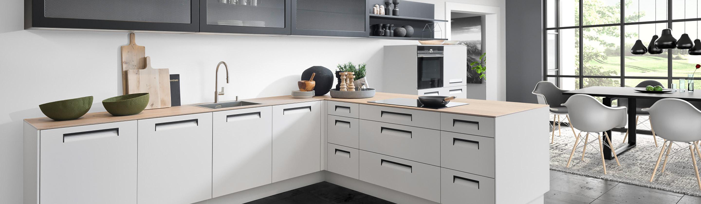 Nolte Küche Ohne Griffe. Maße Küche Offene Mit Tresen Zum ...