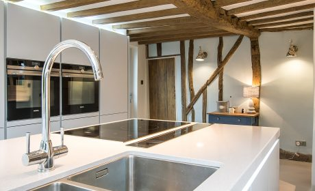 Open plan contemporary kitchen for listed cottage – Histon, Cambridgeshire