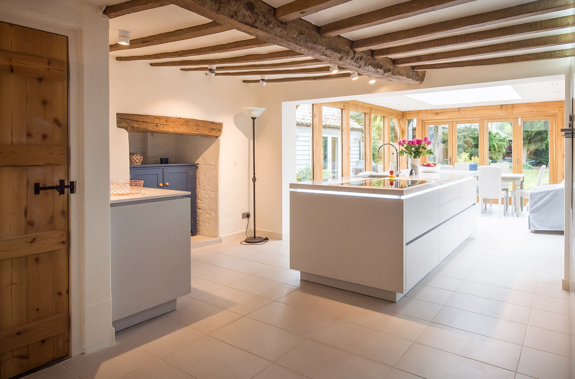 Open Plan Contemporary Kitchen For Listed Cottage