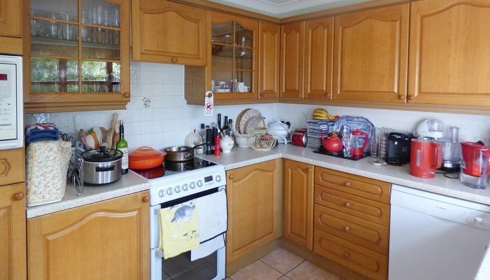 The kitchen before the installation took place