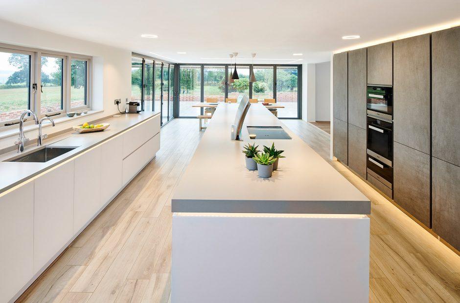 Open Plan Industrial Style Kitchen Bury St Edmunds Nolte