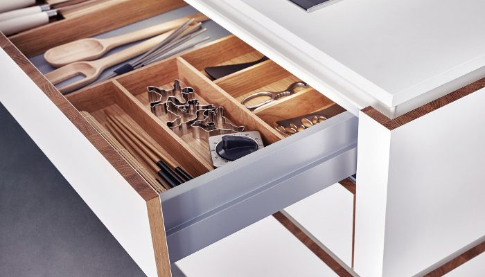 leicht solid range inside drawer