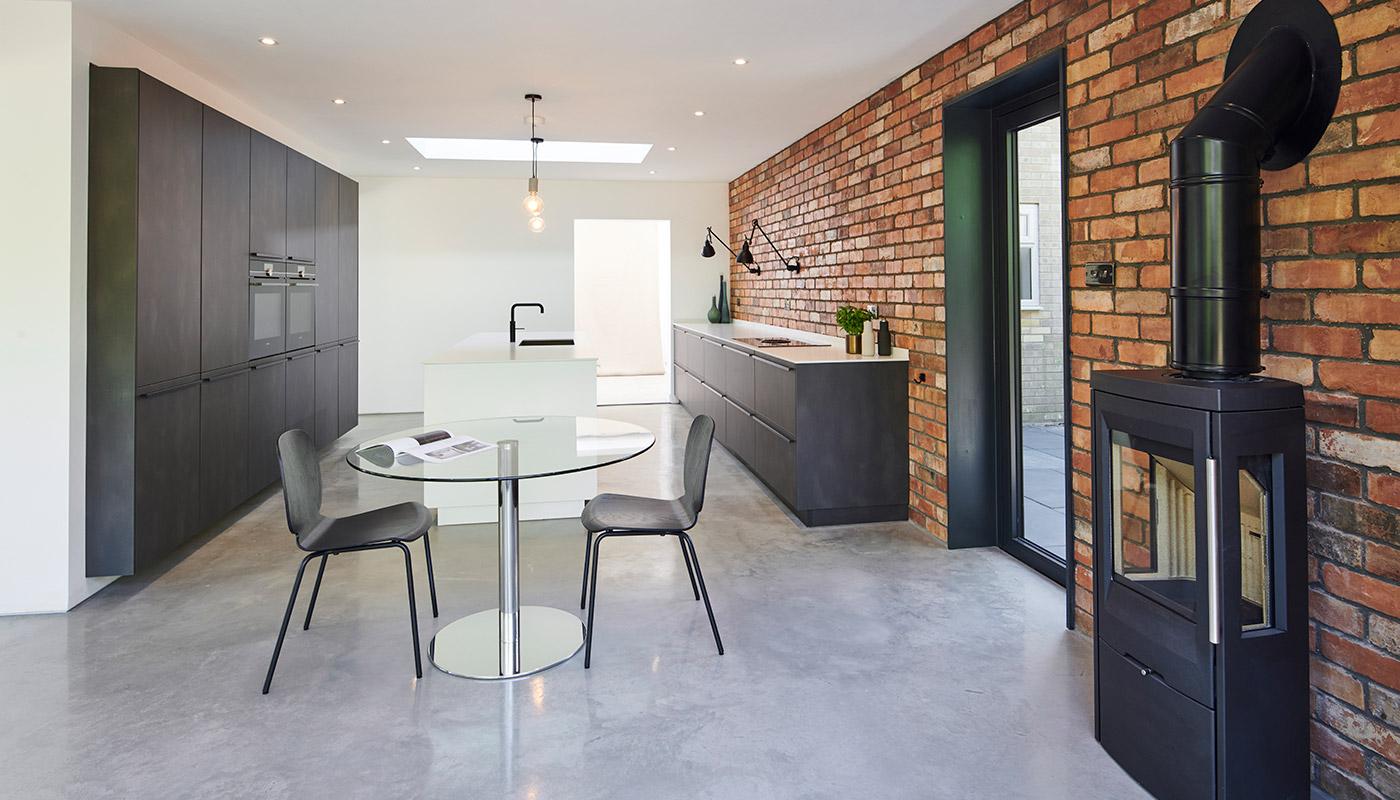 Matt Grey Industrial Style Kitchen
