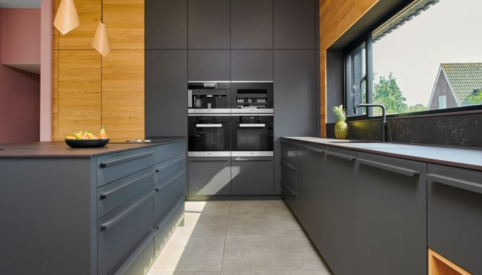 Modern kitchen matt dark grey cambridge