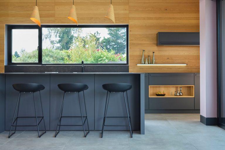 Dark Grey Matt Modern Kitchen